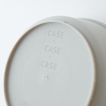 CASEbyCASEbyCASE カラフル保存容器 底面のロゴ