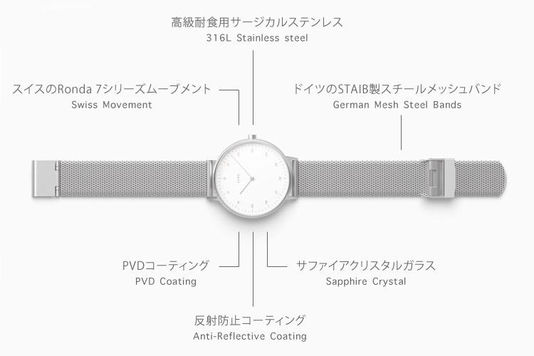 VERK 腕時計 40mm (北欧デザイン スウェーデン ミニマル シンプル)