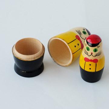 VOLGA(ヴォルガ)SEMYON CAT Matryoshka(セミョンキャットマトリョーシカ ロシア製 手作り 木製玩具 オブジェ ネコ 猫雑貨)