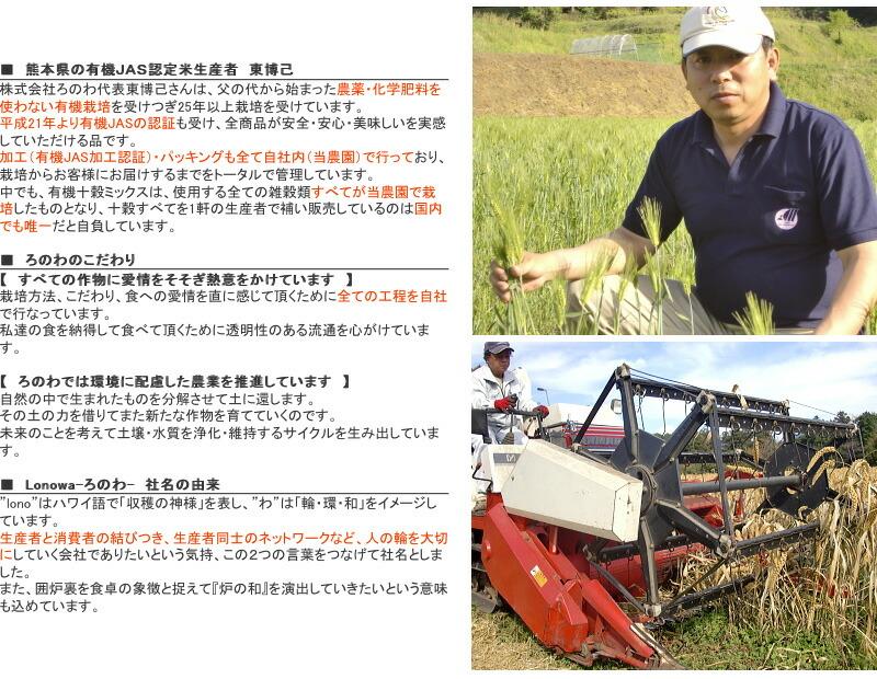 有機JAS認定 無農薬米の生産者 熊本県 東博己