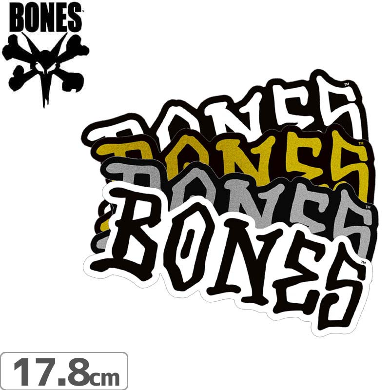 ボーンズ BONES スケボー ステッカー BONES WHEELS STICKER 17.8cm x 6.5cm NO50