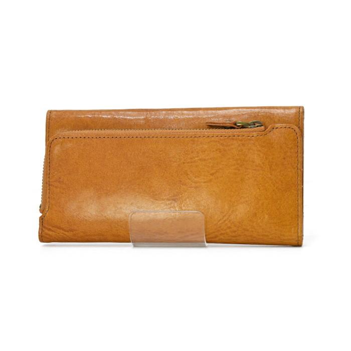 クリフ・三つ折り長財布・キャメル(c-3001)