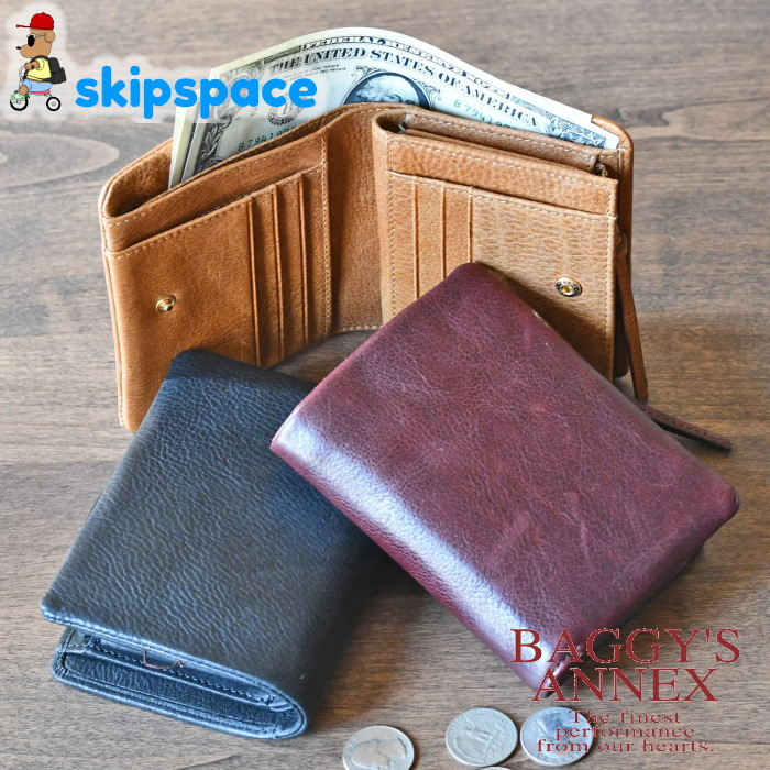 バギーズアネックス/バフレザー/折り財布/lzkm781
