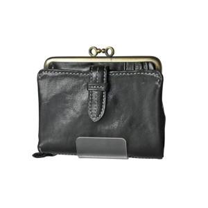クラプトン・口金折り財布・ブラック(0035101)