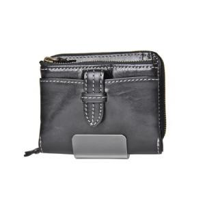 クラプトン・マチ厚折り財布・ブラック(0035102)