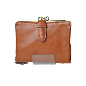 クラプトン・口金折り財布・キャメル(0035101)