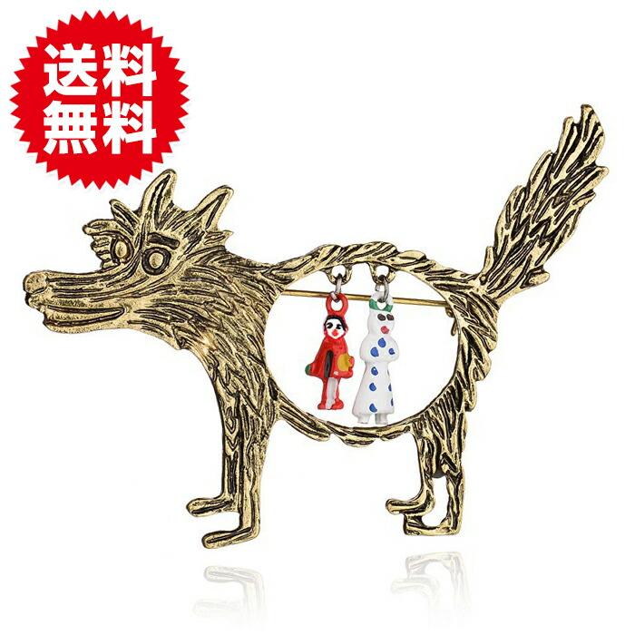 赤ずきんちゃん オオカミ ブローチピン