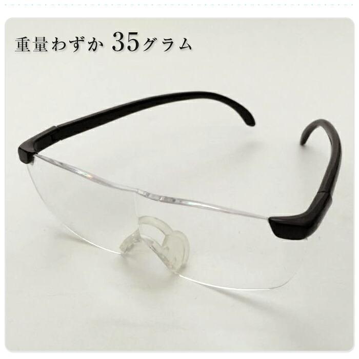 拡大鏡メガネ