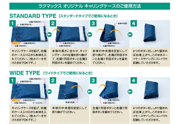ラクマックス枕専用キャリングケースのご使用方法