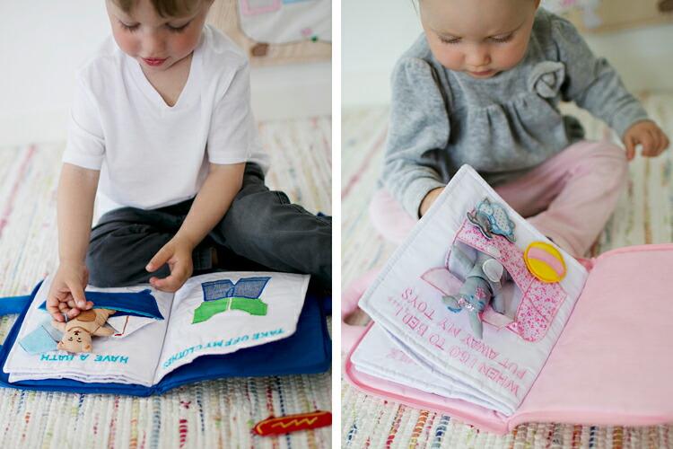 仕掛けたっぷりで想像力を育む布絵本のおすすめを教えてください。