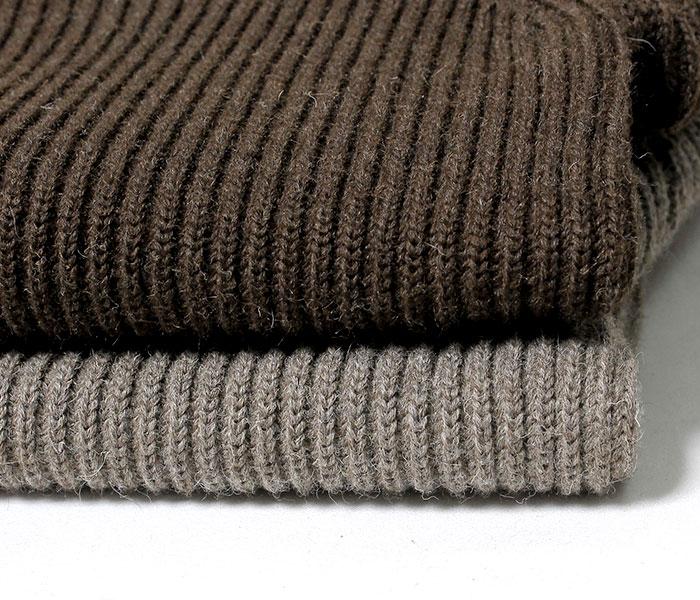 [送料無料]アンデルセン アンデルセン/ANDERSEN-ANDERSEN イタリア製 ''NATURAL COLOR WOOL'' タートルネック セーター リブニット (AA72114-NAT-TURTLE)