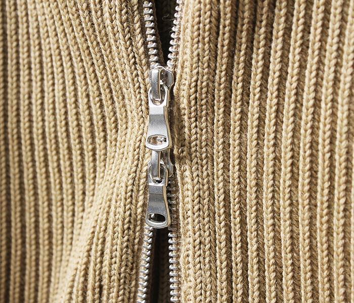 [送料無料]アンデルセン アンデルセン/ANDERSEN-ANDERSEN イタリア製 ''5GG THE NAVY 1/1 ZIP'' フルジップカーディガン セーター リブニット (AA72103-FULLZIP)