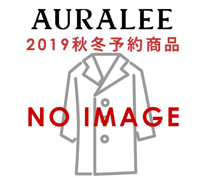 オーラリー AURALEE ウールチェック メルトンコート ステンカラーコート 2019AW WOOL CHECK MELTON LONG SOUTIEN COLLAR COAT MADE IN JAPAN (A9AC01OC)