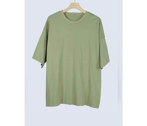 [送料無料]オーラリー/AURALEE 日本製 ハイゲージ ダブルクロス Tシャツ  HIGH GAUGE DOUBLE CLOTH TEE (A00T01DC-TEE)
