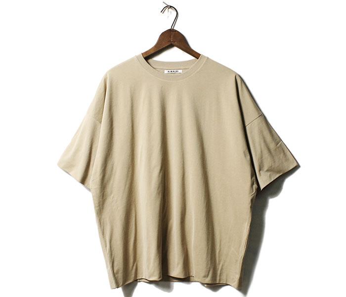オーラリー AURALEE 日本製 ハイゲージ ダブルクロス Tシャツ 2019SS HIGH GAUGE DOUBLE CLOTH TEE (A00T01DC-TEE)