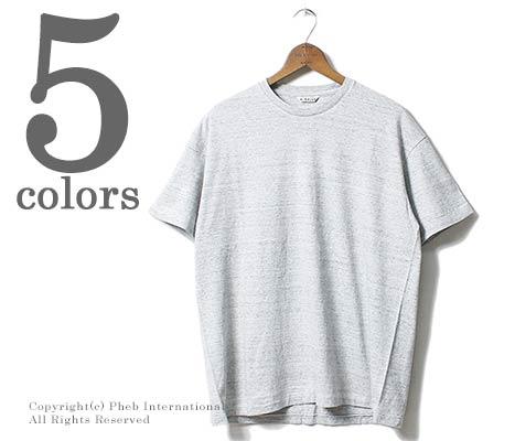 オーラリー/AURALEE 日本製 シームレス クルーネック Tシャツ SEAMLESS CREW NECK TEE (A00T01ST-TEE)