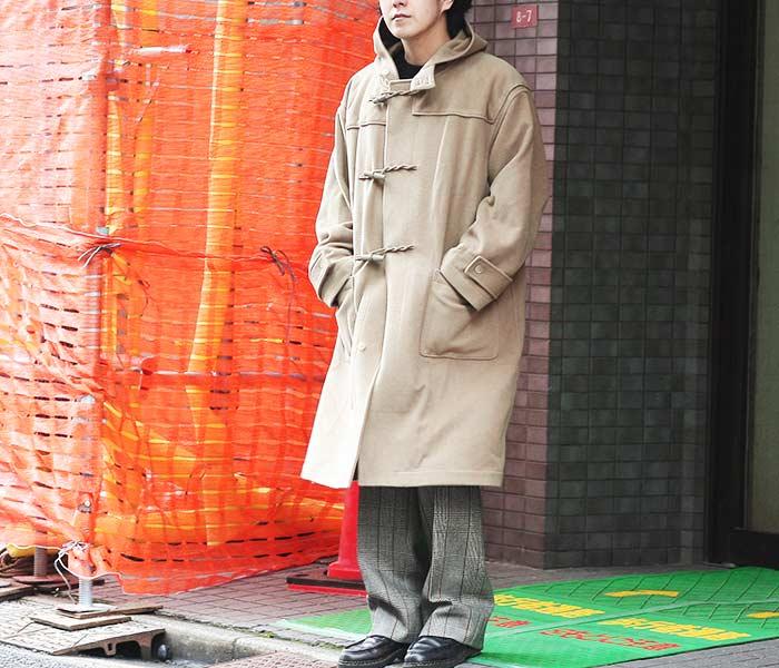 オーラリー AURALEE 日本製 カシミヤ ウール モッサ ビッグ ダッフルコート 2018AW CASHMERE WOOL MOSSER BIG DULE COAT (A8AC01MC)