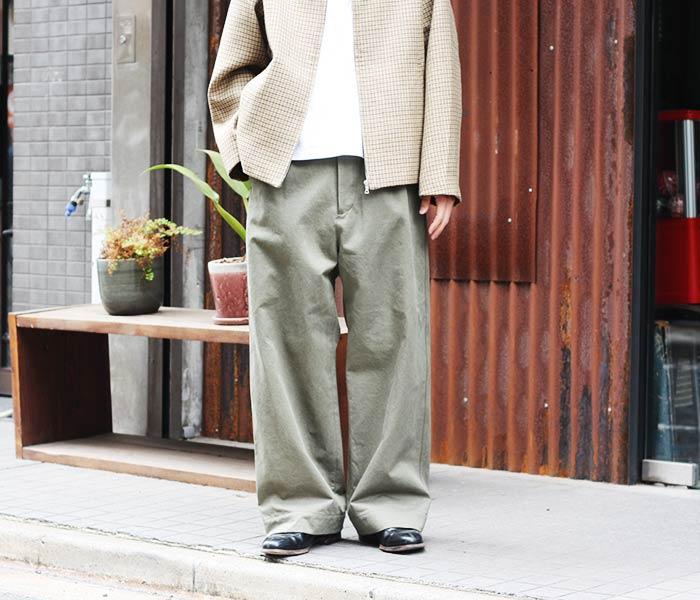 [送料無料]オーラリー/AURALEE 日本製 ウォッシュドフィンクスチノ ワイドチノパン 2018AW WASHED FINX CHINO WIDE PANTS (WASHED-FINX-CHINO-WIDE-AW(A8AP01CN))
