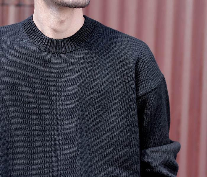 オーラリー AURALEE 日本製 セーター ニット クルーネック フェルトウールヤーン 2018AW FELT WOOL YARN KNIT P/O (A8AP01FU)