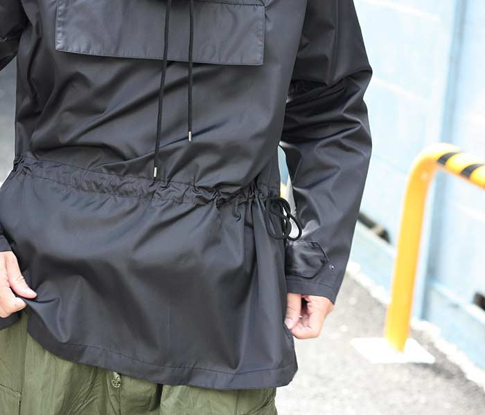 [送料無料]オーラリー/AURALEE 日本製 プルオーバーパーカー アノラック ポリエステル/シルク ハイカウントクロス 2018AW PULLOVER HOODIE (A8AP01PS-ANORAK)