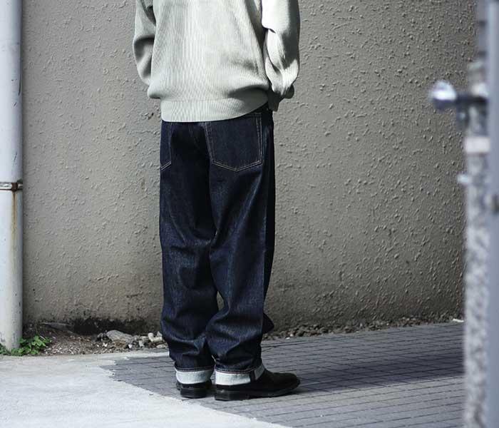 [送料無料]オーラリー/AURALEE 日本製 ハードツイストデニム ワイドパンツ 2018AW HARD TWIST DENIM WIDE PANTS (A8AP02DM)