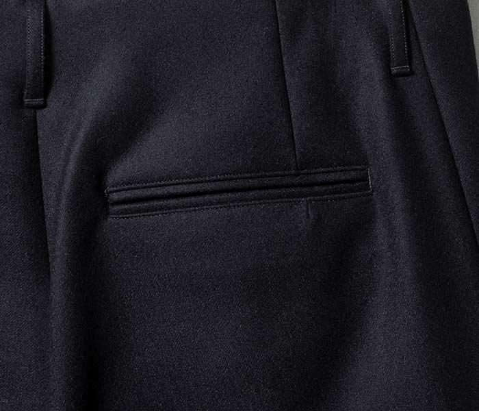 [送料無料]オーラリー/AURALEE 日本製 ライトメルトン ワイドスラックス パンツ 2018AW LIGHT MELTON WIDE SLACKS (A8AP03LM)