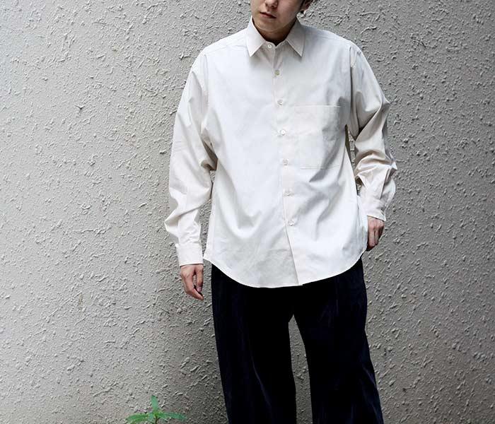 [送料無料]オーラリー/AURALEE 日本製 ビッグシャツ ウォッシュドフィンクスツイル 2018AW WASHED FINX TWILL BIG SHIRTS (AURALEE-WFINX-TWILL-BIGSH(A8AS02TN))