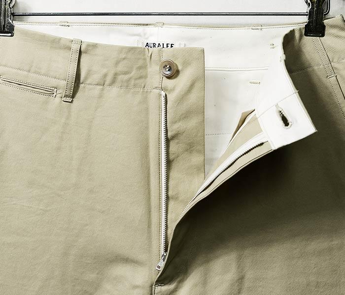 [送料無料]オーラリー/AURALEE 日本製 春夏モデル チノパン ウォッシュド フィンクスライトチノ ワイドパンツ WASHED FINX LIGHT CHINO WIDE PANTS (WASHED-FINX-CHINO-WIDE-SS(A8SP01CN))