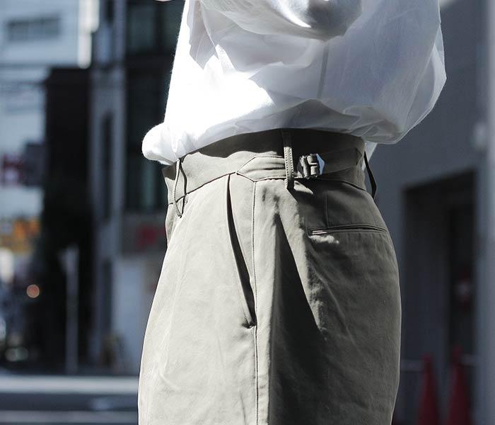 [送料無料]オーラリー/AURALEE 日本製 ウォッシュドフィンクス ライトチノ ワイドショーツ WASHED FINX LIGHT CHINO WIDE SHORTS (A8SP02CN-SHORTS)