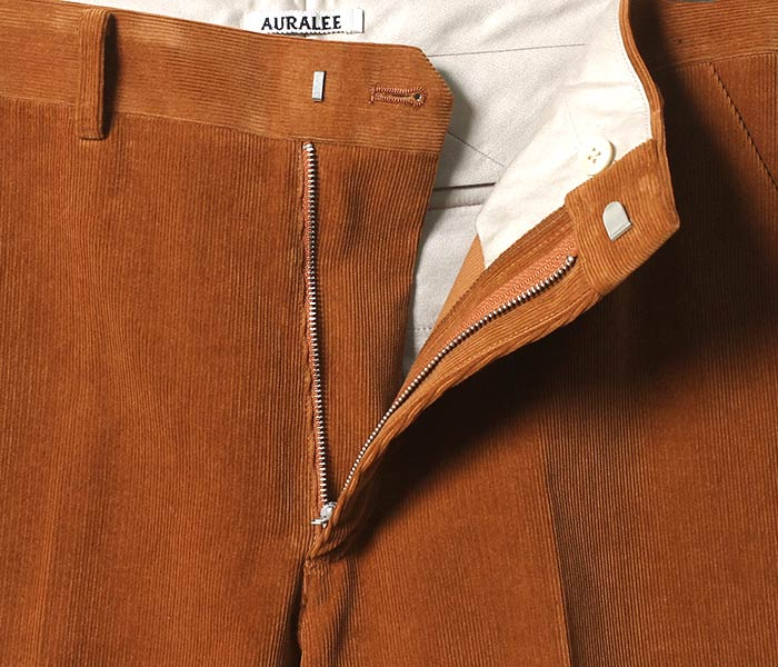 [送料無料]オーラリー/AURALEE 日本製 ウォッシュドコーデュロイ スラックス パンツ WASHED CORDUROY SLACKS (A8SP02NC-PANTS)