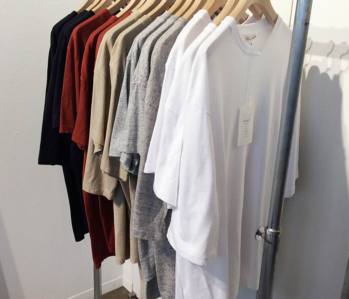 オーラリー/AURALEE 日本製 シームレス クルーネック 5分袖 Tシャツ SEAMLESS CREW NECK HALF SLEEVE TEE (A8ST02ST/A00T03ST-5TEE)