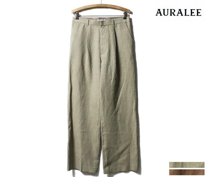 オーラリー AURALEE 日本製 スラックス パンツ ウォッシュドリネン 2019SS WASHED LINEN SLACKS (A9SP02LP)