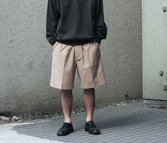 オーラリー AURALEE 日本製 ショーツ ショートパンツ ハードツイスト ギャバジン 2019SS HARD TWIST GABARDINE SHORTS (A9SP03PV)