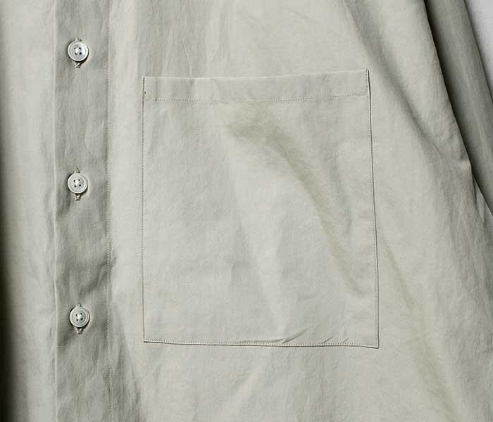 オーラリー AURALEE 日本製 ビッグシャツ ウォッシュドフィンクスツイル 2018AW WASHED FINX TWILL BIG SHIRTS (AURALEE-WFINX-TWILL-BIGSH (A8AS02TN))