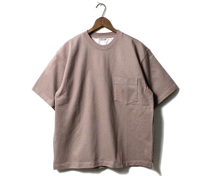 オーラリー AURALEE 日本製 スタンドアップ Tシャツ ポケT 度詰め ヘビーウェイト 2019SS STAND UP TEE (AURALEE-STAND-UP-TEE(A9ST01SU))