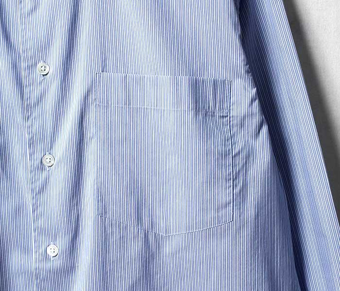 オーラリー AURALEE 日本製 ストライプ シャツ フィンクス コットンシルク 2019SS FINX SILK STRIPE SHIRTS (A9SS01FS)
