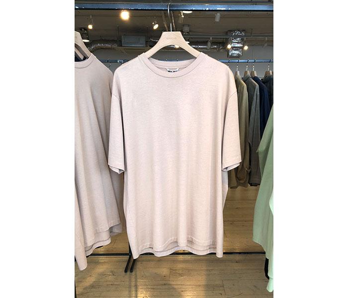 オーラリー AURALEE 日本製 ラスタープレーティング Tシャツ 2019SS LUSTER PLAITING TEE (AURALEE-LUSTER-SS-TEE(A9ST02GT))
