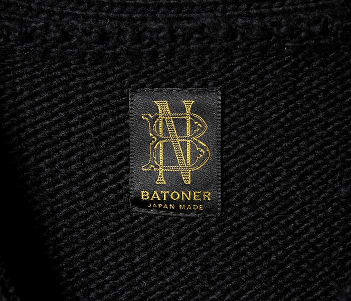 バトナー BATONER 日本製 Vネック カーディガン フェルテッド ニット セーター FELTED V-NECK CARDIGAN KNIT SWEATER 2018AW (BN-18FM-026)