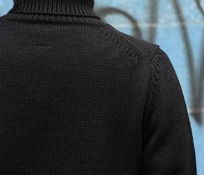 バトナー BATONER 日本製 タートルネック フェルテッド ニット セーター FELTED TURTLENECK KNIT SWEATER 2018AW (BN-18FM-028)