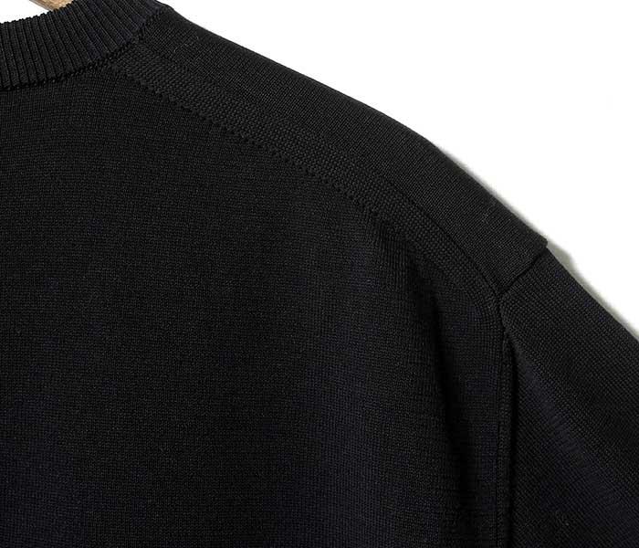 バトナー BATONER 日本製 ツイストコットン ニット セーター クルーネック 2019SS TWIST COTTON CREW NECK KNIT (BN-19SM-013)