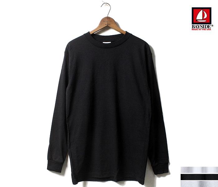 ベイサイド BAYSIDE ロンT プレーンロングTシャツ PLAIN LONG TEE MADE IN USA (BA6100-PLANELONGT)