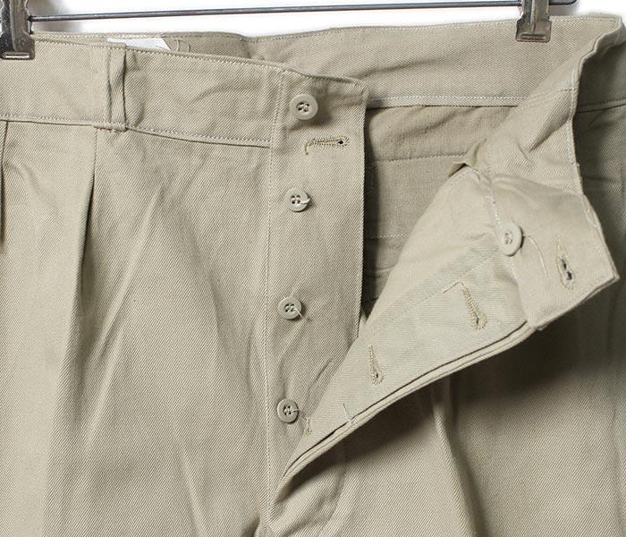 デッドストック/DEADSTOCK フランス軍 1950年代 フレンチアーミーチノトラウザー チノパン (1950-FRENCH-ARMY-CHINOS)