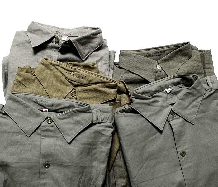 デッドストック/DEADSTOCK チェコ軍 グランパシャツ プルオーバーシャツ 1960年代 (CZECH-GRANDPA-SH-1960)