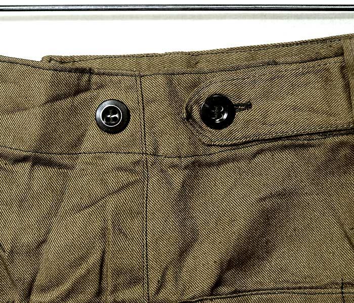 デッドストック/DEADSTOCK チェコ軍 1960年代 アーミーワークパンツ パッチポケット ワイドパンツ (CZECH-60S-ARMY-PANTS)