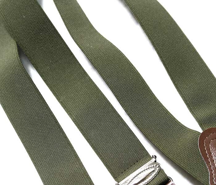 [メール便送料無料]デッドストック/DEADSTOCK チェコ軍 オリーブ ラバーサスペンダー (CZECH-SUSPENDERS-OLIVE)