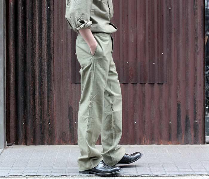 デッドストック/DEADSTOCK 東ドイツ軍 コックパンツ 1980年代 (EAST-GERM-1980-COOK-PANTS)