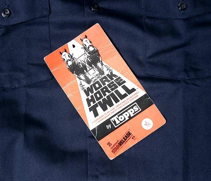 デッドストック/DEADSTOCK アメリカ製 ヴィンテージ WORK HORSE TWILL by TOPPS ワークシャツ VINTAGE L/S WORK SHIRTS 1980年代 (80S-TOPPS-LS-WORK-SH)