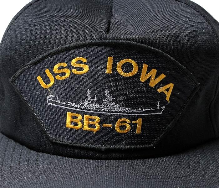 デッドストック/DEADSTOCK アメリカ製 USS IOWA BB-61 ミリタリーキャップ (USS-IOWA-BB-61-CAP)