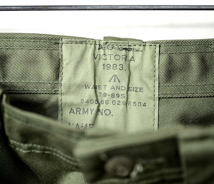 [送料無料]デッドストック/DEADSTOCK オーストラリア軍 1983年製 フロントポケット ジャングルカーゴパンツ AGCF VICTORIA AUSTRALIAN ARMY JUNGLE FREEN TROUSERS (AUS-83S-ARMY-JUNGLE-TR)