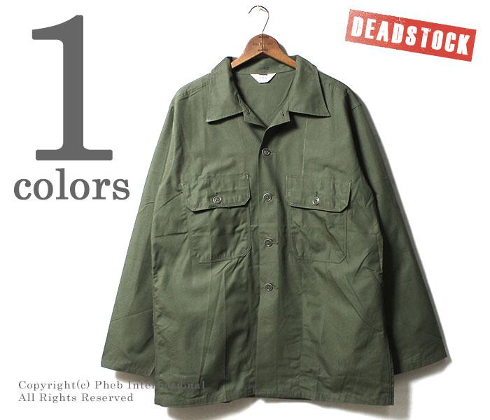 [送料無料]デッドストック/DEADSTOCK アメリカ製 ヴィンテージ BVD ファティーグシャツ コットンポプリン パッケージ付き 1960年代製 (BVD-FATIGUE-SH-60S)